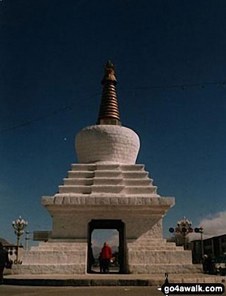 Me on Lhasa Gate walk   Tibet walks