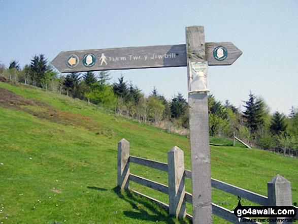 The Offa's Dyke Path sign at Bwlch Penbarras