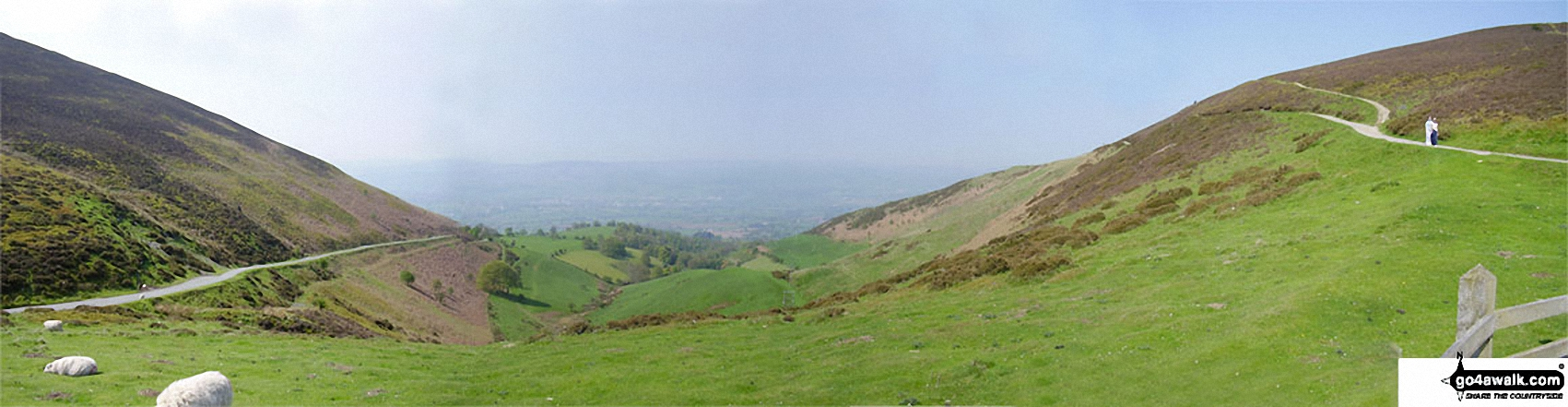 Looking South West towards Snowdonia from<br>The Offa's Dyke Path at Bwlch Penbarras