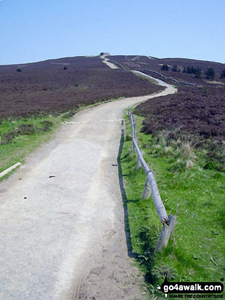 The Offa's Dyke Path approaching the summit of Moel Famau
