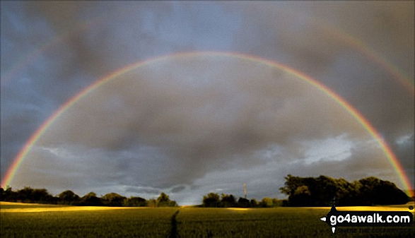 Rainbow seen from Haxted Mill in the Eden Valley