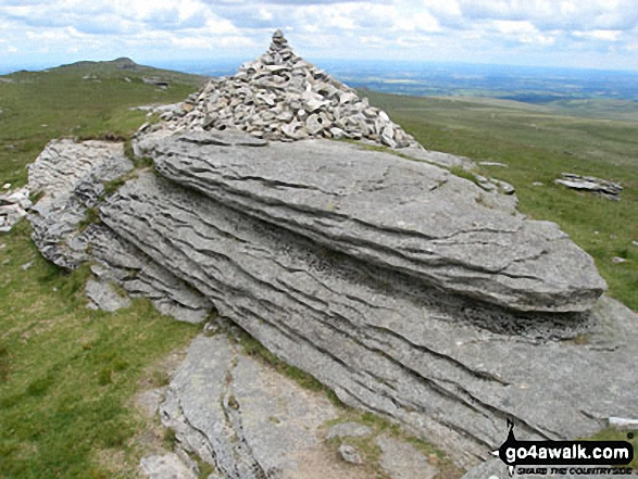 The summit of High Willhays,  the highest point in Dartmoor National Park Photo: David Rodgers