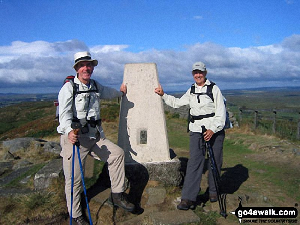 My wife Mary and I on Winshield Crags - the highest point on Hadrian's Wall An exquisite walk!