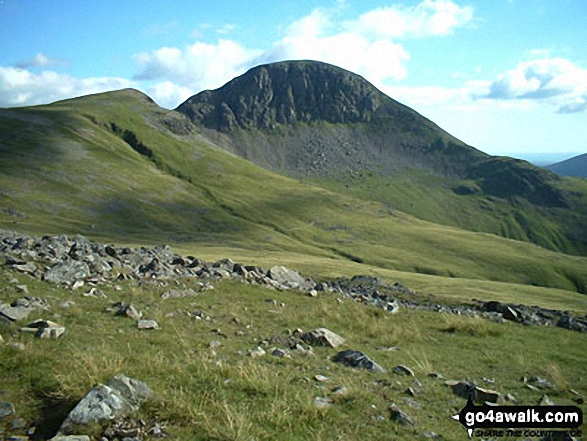 Walk Green Gable walking UK Mountains in The Western Fells The Lake District National Park Cumbria    England