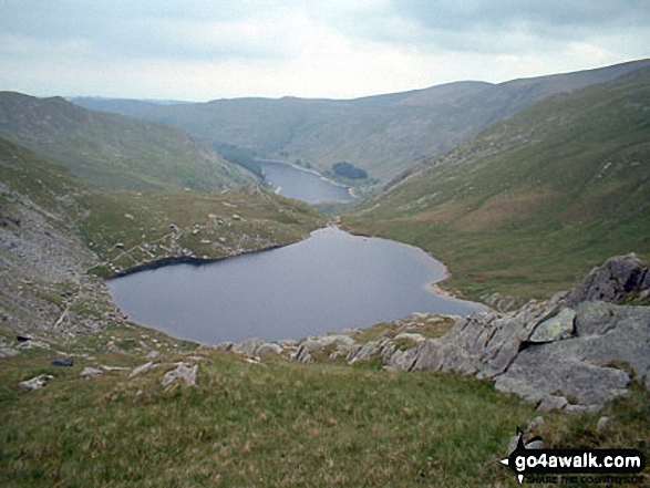 Small Water with Haweswater Reservoir beyond from Nan Bield Pass
