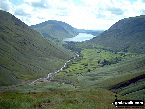Wasdale Head and Wast Water from Gavel Neese on the lower slopes of Great Gable