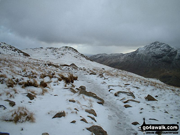 Walk c108 Crinkle Crags from The Old Dungeon Ghyll, Great Langdale - Pike of Blisco (Pike o' Blisco) from The Band