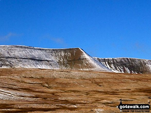 Fan y Big, Cribyn and Pen y Fan from Cefn Cyff