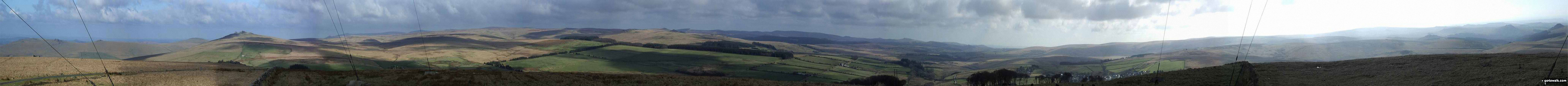 Walk de122 North Hessary Tor, Great Mis Tor and Great Staple Tor from Princetown - Dartmoor from North Hessary Tor