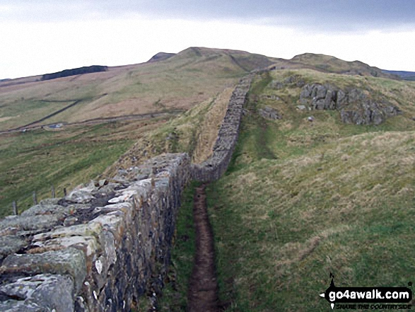 Hadrian's Wall near Once Brewed - Walking The Hadrian's Wall Path National Trail - Day 5