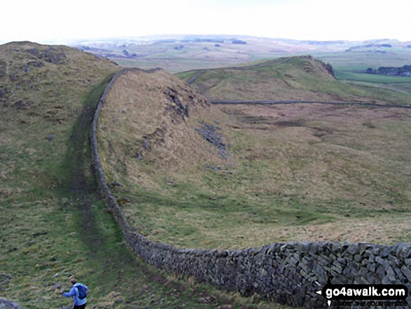 The view west of Steel Rigg - Walking The Hadrian's Wall Path National Trail - Day 5