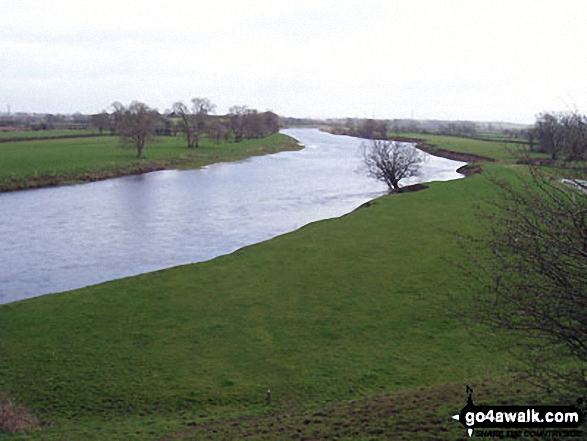 The River Eden West of Carlisle - Walking The Hadrian's Wall Path National Trail - Day 7