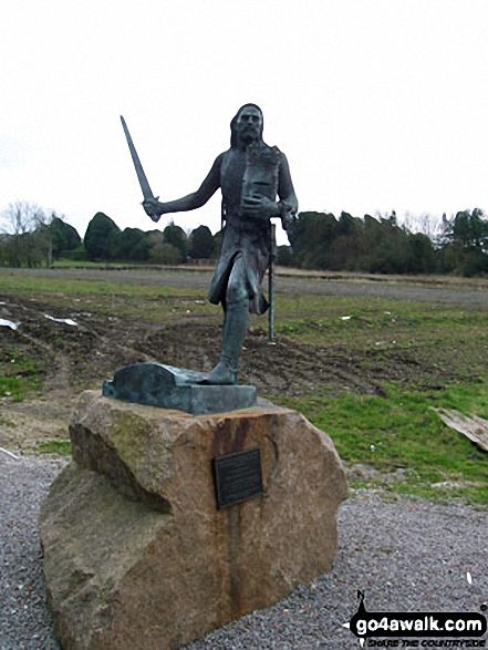 Statue of King Edward I, Burgh-by-Sands - Walking The Hadrian's Wall Path National Trail - Day 7