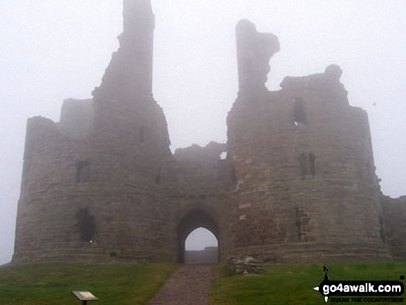 The front facade of Dunstanburgh Castle