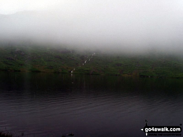 Easedale Tarn in low cloud