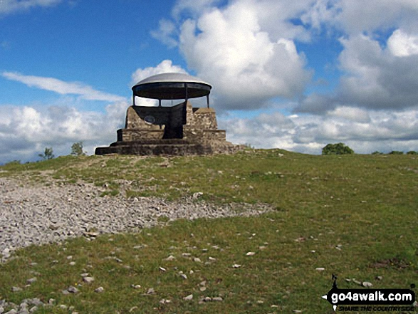 The Mushroom Shelter on the summit of Scout Scar (Barrowfield) above Kendal. Walk route map c190 Scout Scar from Kendal photo