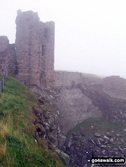 The seaward end of Dunstanburgh Castle