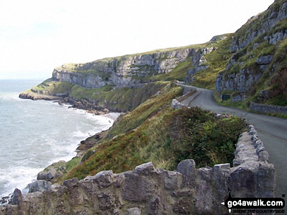 The road around East side of Great Orme