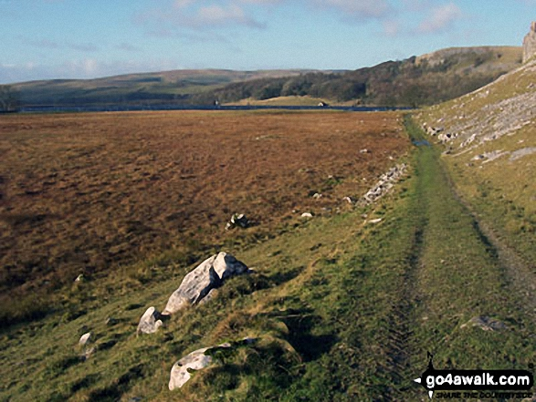 The path towards Malham Tarn below Great Close Scar