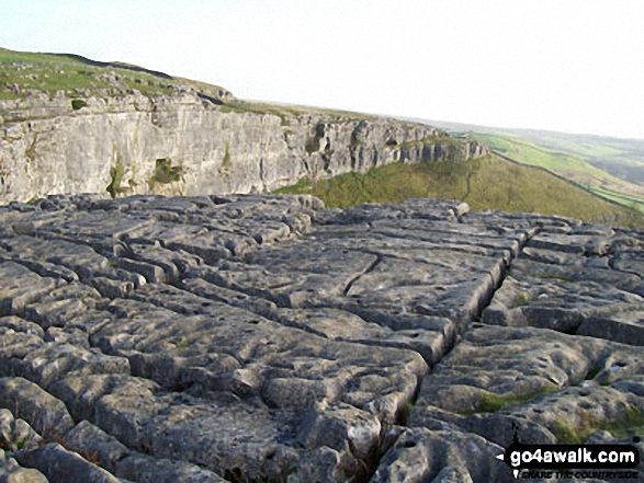 The limestone pavement on the top of Malham Cove