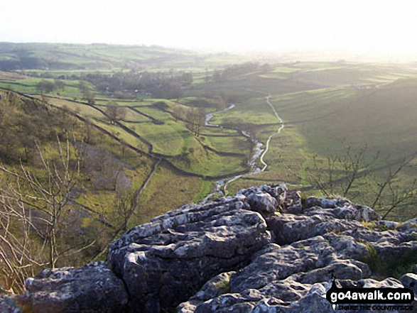 Malham Village from the top of Malham Cove