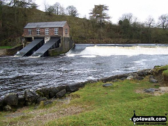 The River Wharfe Weir near Grassington