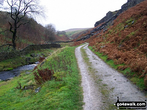 The path by Hebden Beck