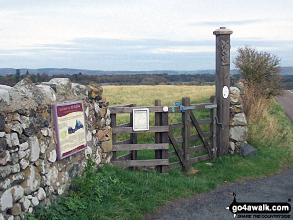 Just off The St Cuthbert's Way on the B6351 between Kirknewton and Yeavering is the entrance to the site of The Palace of Ad Gefrin Walking St Cuthbert's Way - Day 6