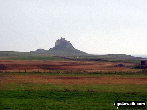 Lindisfarne Castle on Holy Island from The St Cuthbert's Way Walking St Cuthbert's Way - Day 8