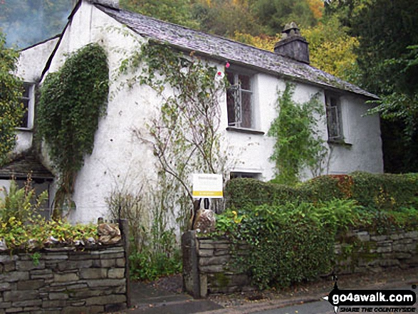 Dove Cottage near Grasmere. Walk route map c266 Seat Sandal and Fairfield from Grasmere photo