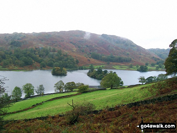 Grasmere. Walk route map c266 Seat Sandal and Fairfield from Grasmere photo