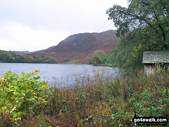 The southern end of Grasmere. Walk route map c358 Seat Sandal, Fairfield and Heron Pike from Grasmere photo