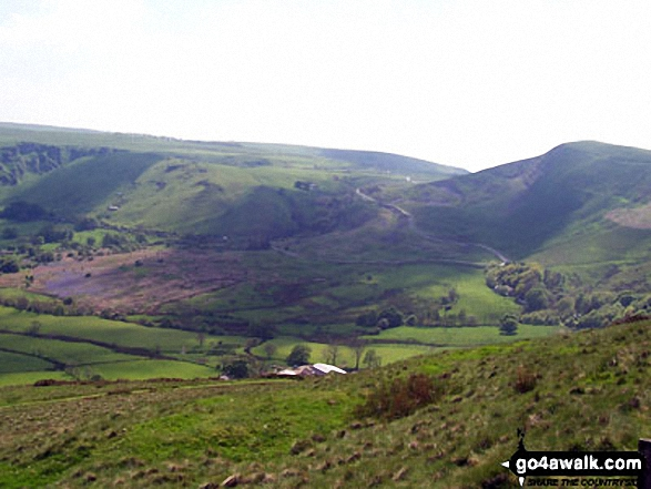 The Vale of Castleton and Mam Tor (right) from Hollins Cross