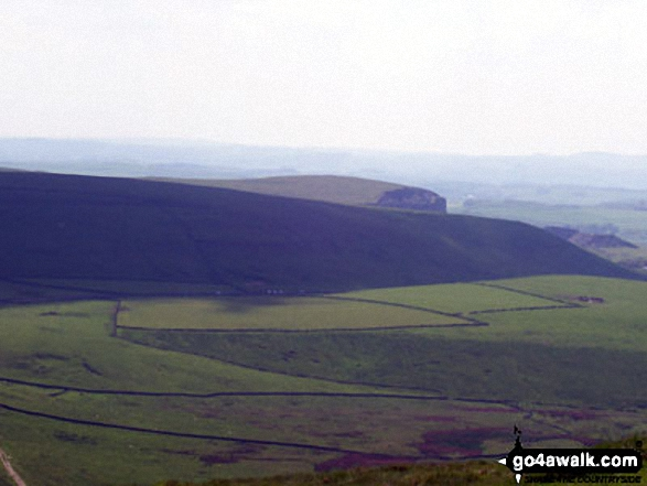 The view from the summit of Mam Tor. Walk route map d123 Mam Tor via Cavedale from Castleton photo