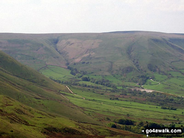 Kinder Scout from the summit of Mam Tor. Walk route map d158 Sparrowpit and Mam Tor from Castleton photo