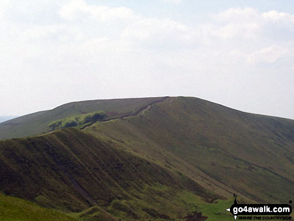 Lord's Seat (Rushup Edge) from Mam Tor. Walk route map d123 Mam Tor via Cavedale from Castleton photo