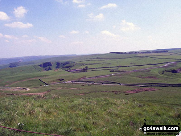 Winnats Pass (centre left) from Mam Tor