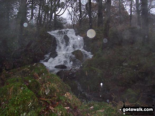Bottom of Tom Gill Falls near Tarn Hows