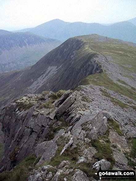 Y Garn (Moel Hebog) & The Nantlle Ridge from Mynydd Drws-y-coed summit