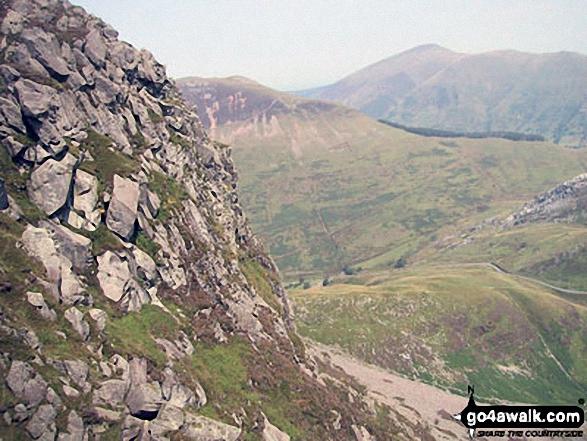 Mynydd Mawr (Llyn Cwellyn), Craig y Bera and Moel Eilio (Llanberis) from Y Garn (Moel Hebog)