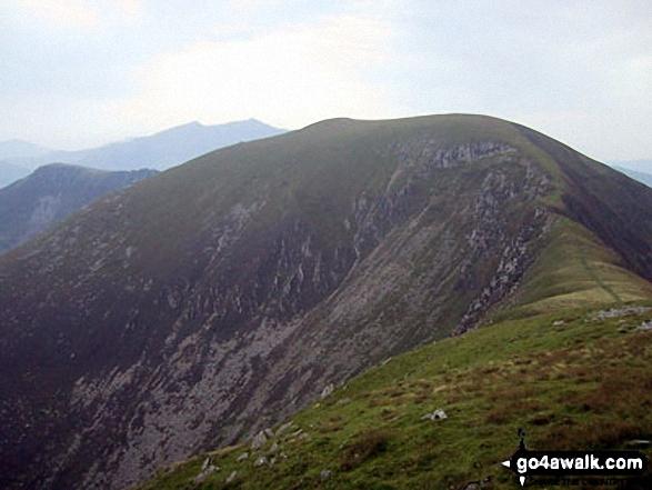Trum y Ddysgl from Mynydd Tal-y-mignedd summit