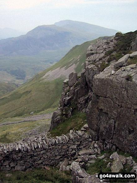 On Bwlch Dros-bern between Mynydd Tal-y-mignedd and Craig Cwm Silyn