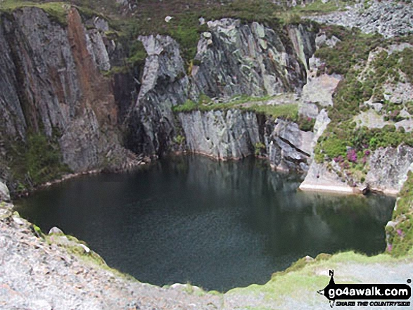Disused Quarry Pool near Pont Cyfyng. Walk route map cw178 Carnedd Moel Siabod from Pont Cyfyng, Capel Curig photo