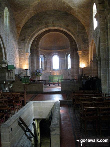 Walk ny190 Appleton-le-Moors from Hutton-le-Hole - Inside St Marys Church, Lastingham