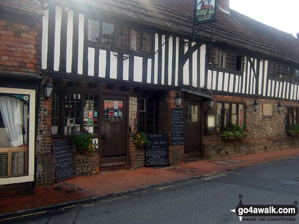 Walk es144 Firle Beacon from Alfriston - The George Inn, Alfriston