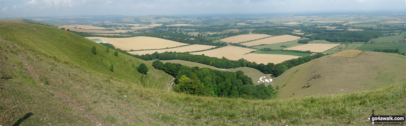 Looking north east from the summit of Firle Beacon