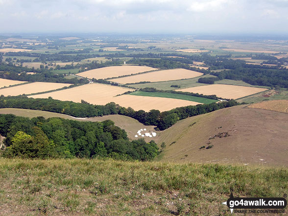 The East Sussex countryside from the summit of Firle Beacon