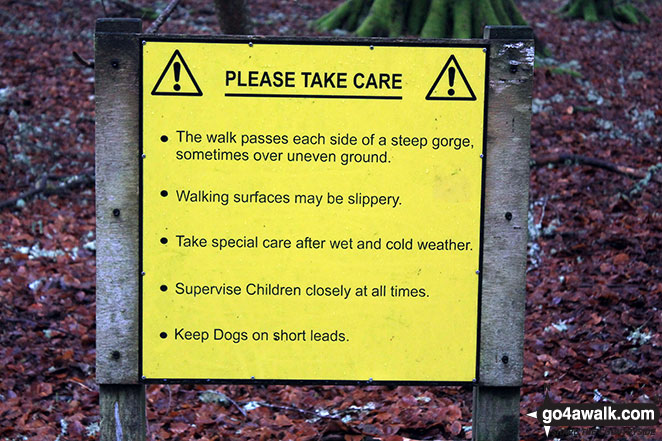 Warning sign in the Birks of Aberfeldy