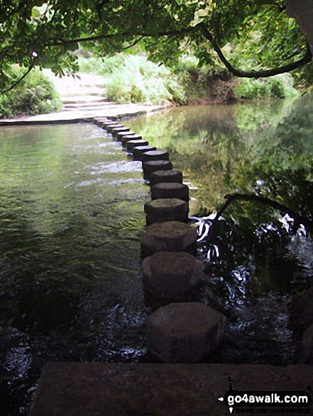 Stepping Stones across the River Mole on the North Downs Way