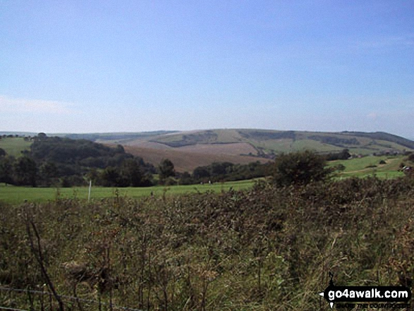 The Sussex Downs near Ditchling Beacon. Walk route map es145 Jack and Jill from Ditchling Beacon photo